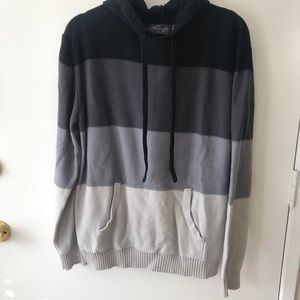 Stripped sweater hoodie